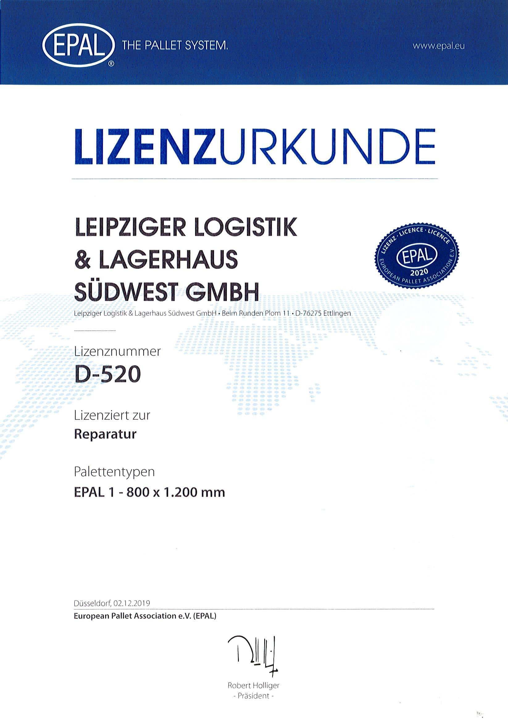 EPAL Lizenz 2020