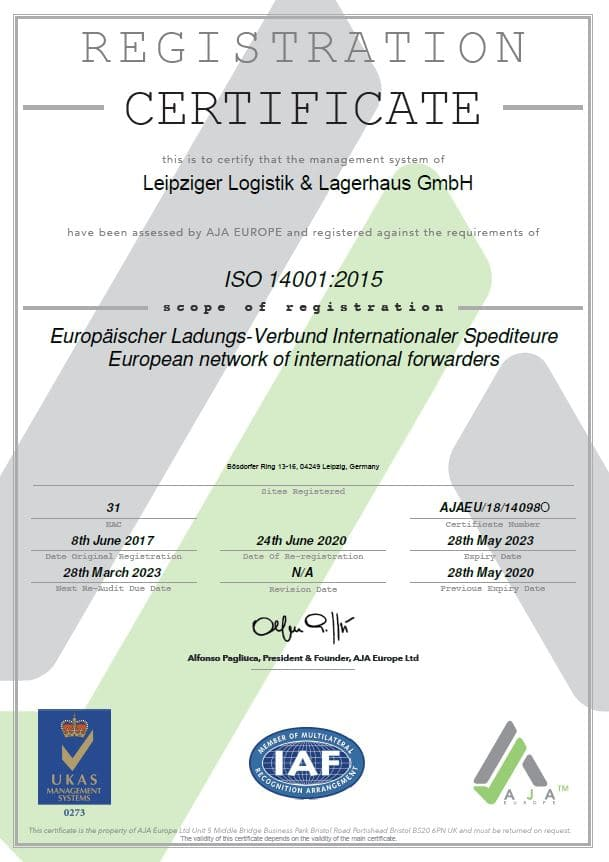 ISO 14001 Webseite