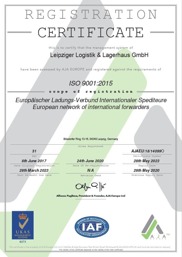 ISO 9001 Webseite